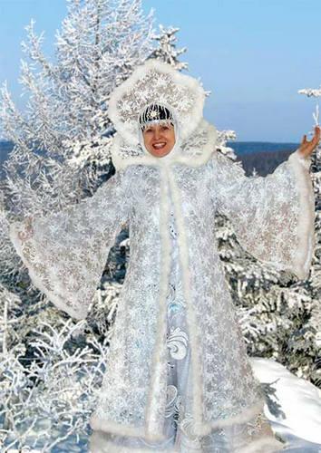 Новогодний костюм зимы своими руками для взрослых